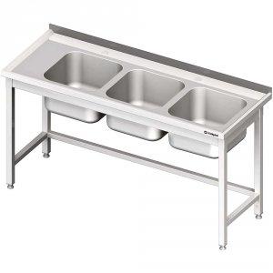 Stół ze zlewem 3-kom.(P),bez półki 1700x600x850 mm