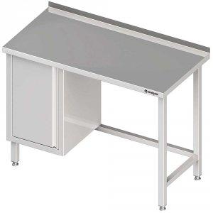 Stół przyścienny z szafką (L),bez półki 1700x700x850 mm