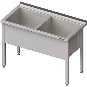 Stół z basenem 2-komorowym spawany 1400x700x850 mm h=400 mm