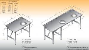 Stół sortowniczy prosty prawy lo 302 - 2200x1200 Lozamet