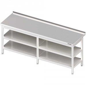 Stół przyścienny z 2-ma półkami 2300x600x850 mm spawany