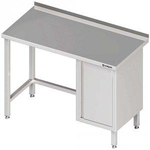 Stół przyścienny z szafką (P),bez półki 1800x600x850 mm