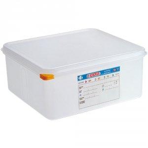 Pojemnik z polipropylenu z pokrywką szczelną, GN 2/3, H 200 mm