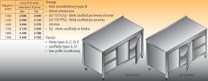 Stół roboczy z blokiem szuflad i szafką lo 137/s2 - 1500x600