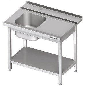 Stół załadowczy(P) 1-kom. z półką do zmywarki STALGAST 1300x750x880 mm skręcany