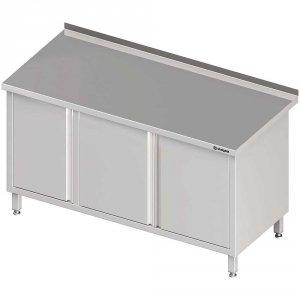 Stół przyścienny z szafką (L),drzwi skrzydłowe 1600x700x850 mm