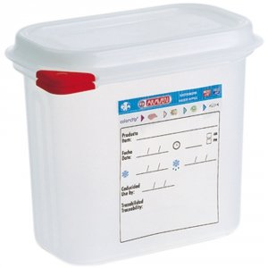 Pojemnik z polipropylenu z pokrywką szczelną, GN 1/9, H 65 mm