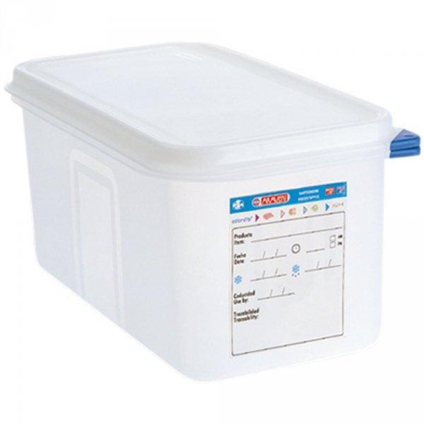 pojemnik z polipropylenu z pokrywką szczelną, GN 1/3, H 150 mm