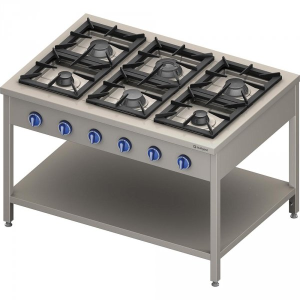 kuchnia gazowa, 6-palnikowa, 900 mm, 32.5 kW, G30