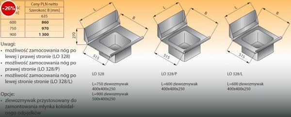 Płyta stołu przelotowego ze zlewozmywakiem lo 328 - 900x635 Lozamet
