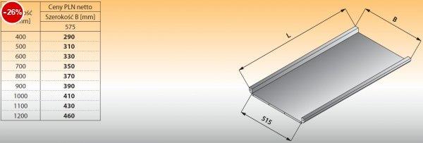 Płyta stołu przelotowego prostego lo 316 - 600x575 Lozamet