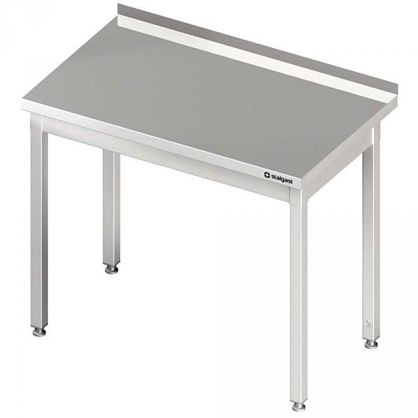 stół stalowy bez półki, przyścienny, skręcany, 1000x600x850 mm