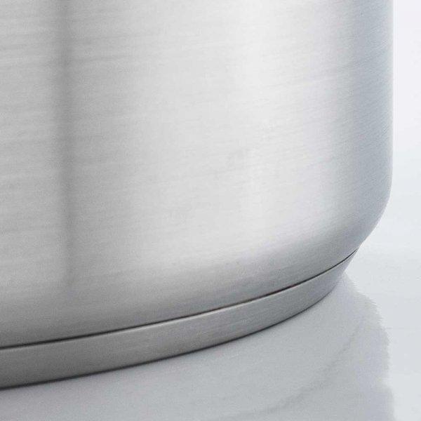 Garnek średni z pokrywki, stalowy, O 450 mm, V 57.3 l