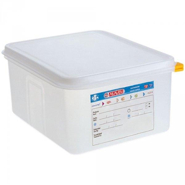 pojemnik z polipropylenu z pokrywką szczelną, GN 1/2, H 100 mm