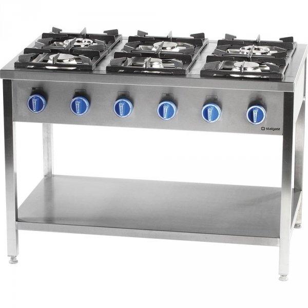 Kuchnia gazowa, 6-palnikowa, 700 mm, 36.5 kW, G30