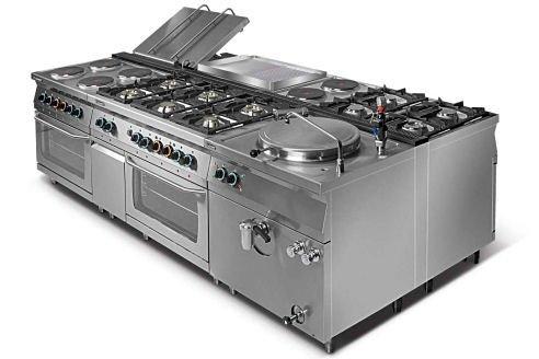 Kuchnia elektryczna 4-płytowa z piekarnikiem elektrycznym z termoobiegiem GN1/1 L700.KEO4 PET Lozamet