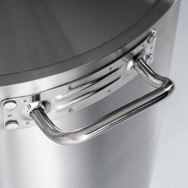 Garnek wysoki z pokrywką, stalowy, O 500 mm, V 98.2 l