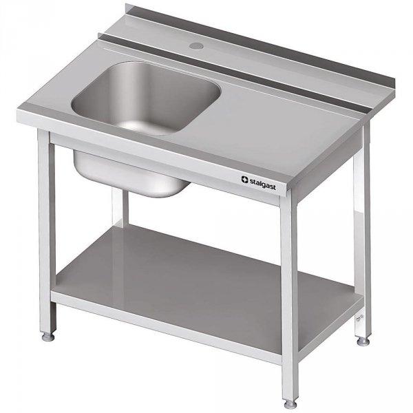 Stół załadowczy(P) 1-kom. z półką do zmywarki STALGAST 1200x750x880 mm spawany