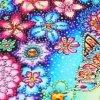 Haft Diamentowy Kwiecisty Motyl 30x30cm