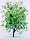 Haft Diamentowy Wiosenne Drzewo 45x55 cm