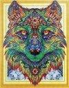Haft Diamentowy Wilk Trzecie Oko 47x57 cm