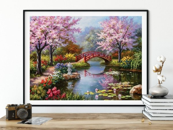 Haft Diamentowy Wiosenny Relaks 45x55 cm
