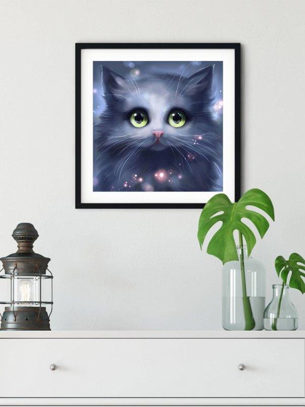 Haft Diamentowy Kocie Spojrzenie 35x35 cm K