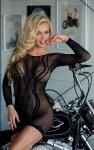 WAVY czarna seksowna mini sukienka S-L