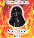 Czarna Maska BDSM KAT - sado-maso
