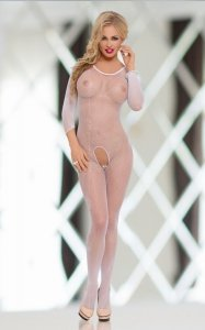 Bodystocking Netty White seksowne roz. S-L