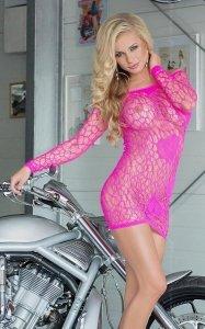 Sweetheart seksowna różowa mini sukienka S-L