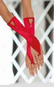 Czerwone długie rękawiczki na palec SoftLine Gloves