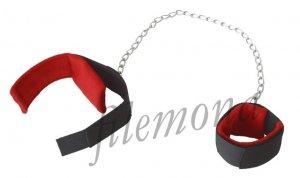 Dark Horn mankiety kajdanki BDSM z długim łańcuchem