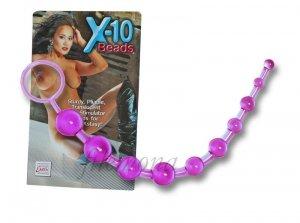 Koraliki analne X-10 Beads fioletowy bacik analny