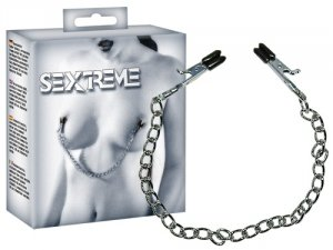 Sextreme BDSM Łańcuszek z klipsami na sutki