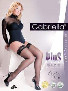 Czarne pończochy samonośne Gabriella Calze Plus Size 5/6