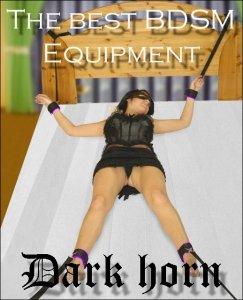 Dark Horn Giant Violet zestaw BDSM