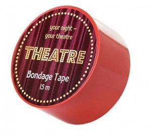 Taśma do krępowania Bondage Theatre czerwona 15m