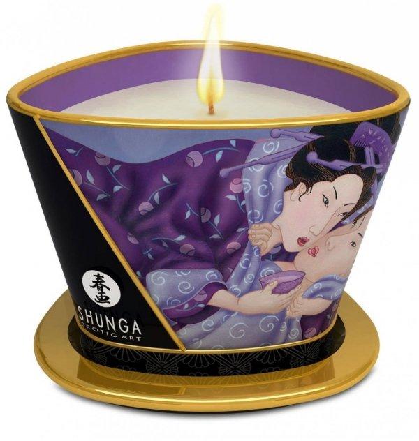 Duża świeczka olejek do masażu Shunga Libodo Exotic Fruits