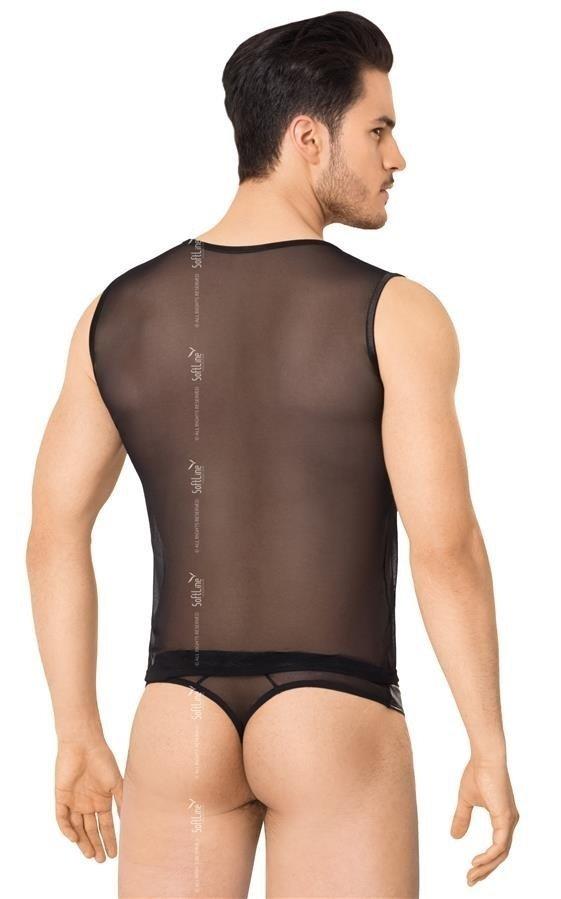 Erotyczny komplet Shirt&Shorts z zamkiem M/L tył