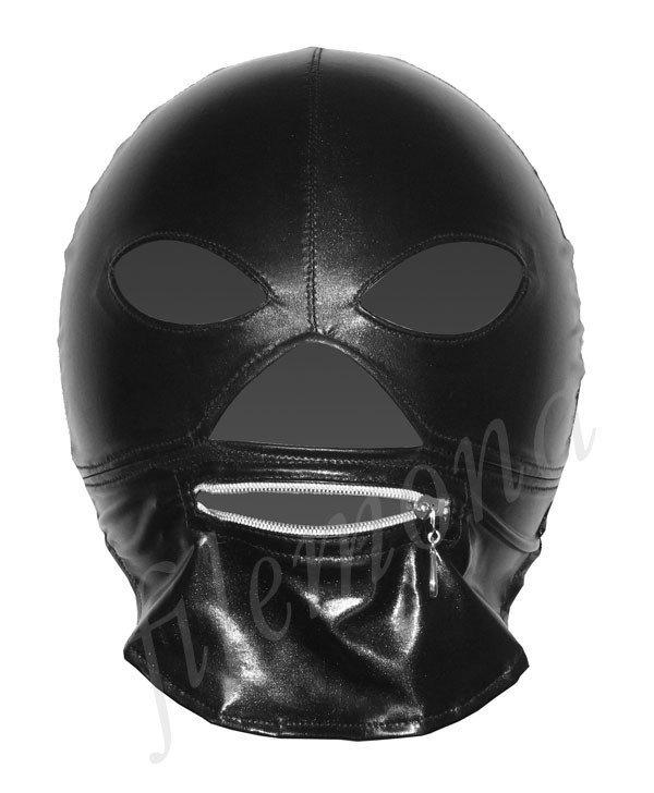 maska z zamkiem odpięta