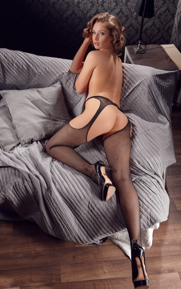 Rajstopy z otworkami Sex-Strumpfhose Tights L/XL