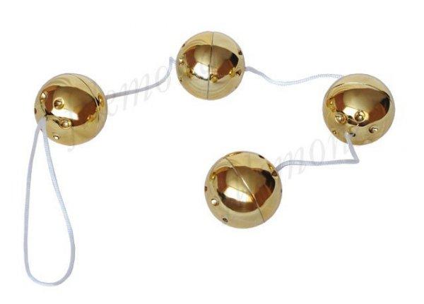 Cztery Kulki Gejszy GOLD VIBRO BALLS