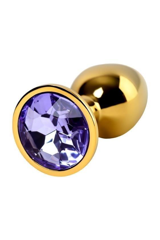 Metal Gold klasyczna mała wtyczka analna kryształek