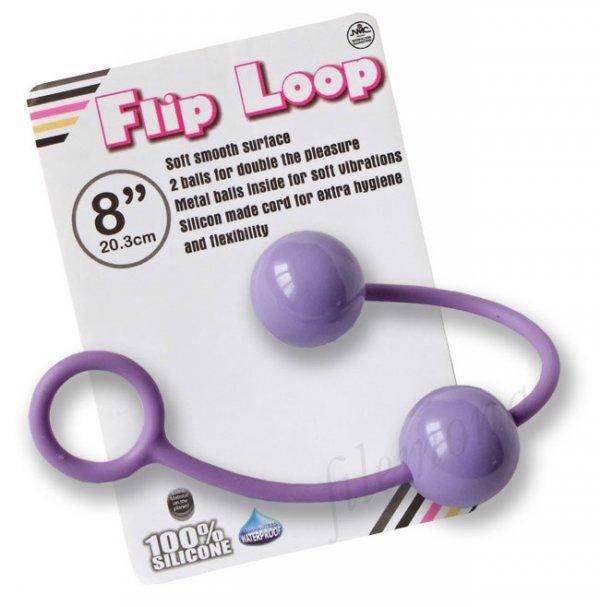Flip Loop fioletowe kulki analno - waginalne