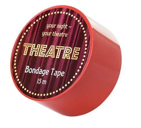 Taśma do krępowania Bondage Theatre czerwona