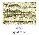 mulina Madeira Metallic 4-gold dust 4022