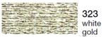 mulina Madeira Metalic perle 10 -white gold  323