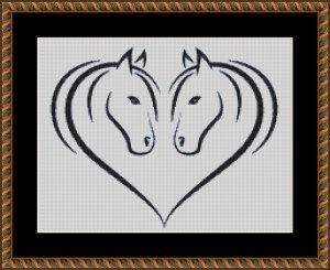 Wzór do haftu M2009 - konie lustro