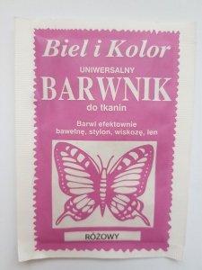 Barwnik - Biel i Kolor - różowy